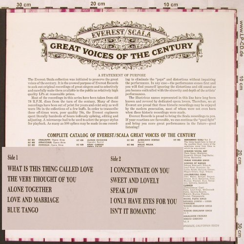 Eddy,Nelson: Great Voices of the Century, Everest/Scala(SC-887), US,  - LP - X1572 - 6,00 Euro