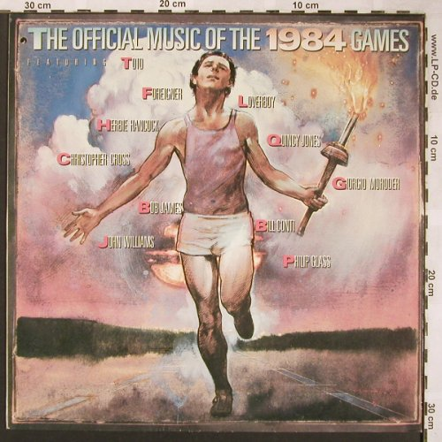 V.A.Official Music Of 1984 Games: Toto, Moroder,Philip Glass...12 Tr., CBS(CBS 26048), NL, co, 1984 - LP - X1636 - 5,00 Euro