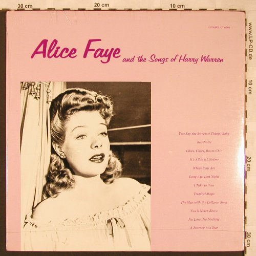 Faye,Alice: and t. Songs of Harry Warren,FS-New, Citadel(CT 6004), US,  - LP - X1901 - 9,00 Euro