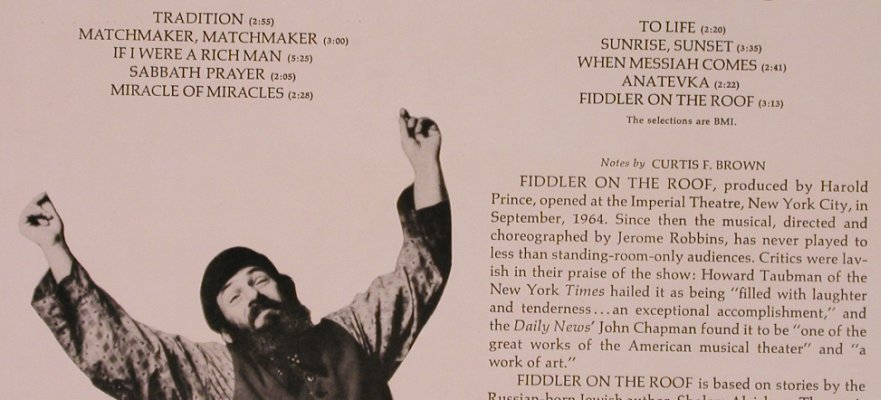 Fiddler on the Roof: Herschel Bernardi sings, Harmony(KH 30757), US,  - LP - X1902 - 5,00 Euro