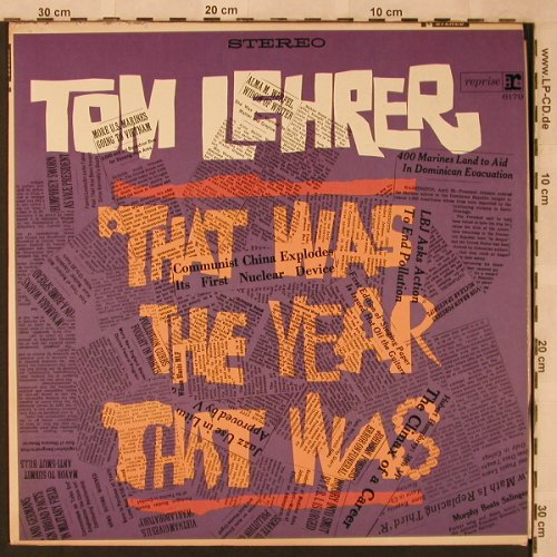 Lehrer,Tom: That was the year that was, vg+/vg+, Reprise(RS-6179), US,  - LP - X2467 - 5,00 Euro