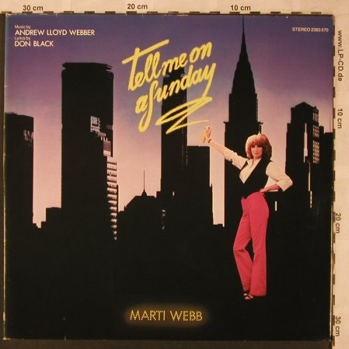 Webb,Marti: Tell Me On A Sunday,A.L.Webber, Foc, Polydor(2383 570), D, 1980 - LP - X2575 - 5,00 Euro