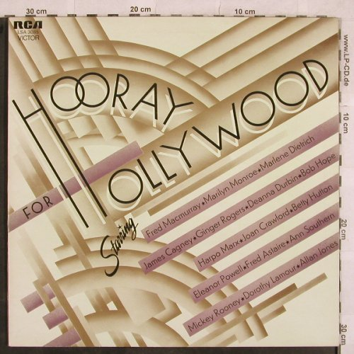 V.A.Hooray For Hollywood: Marlene Dietrich...Mickey Rooney, RCA Victor(LSA 3085), UK,woc,Foc, 1972 - LP - X282 - 5,50 Euro