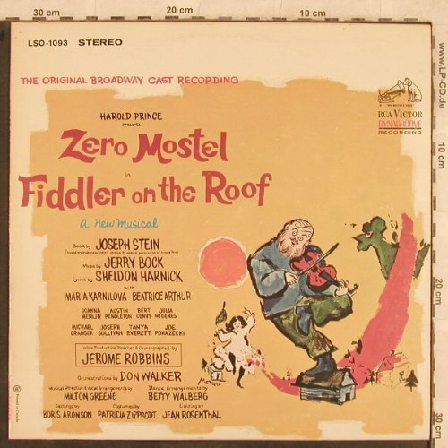 Fiddler On The Roof: Broadway Cast , Zero Mostel, RCA(LSO-1093), CDN,  - LP - X298 - 7,50 Euro