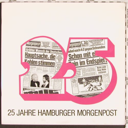 V.A.25 Jahre Hamburger Morgenpost: Booklett+ V.A. Hit Sampler, mopo(6830 174), D, 1974 - LP - X3314 - 7,50 Euro