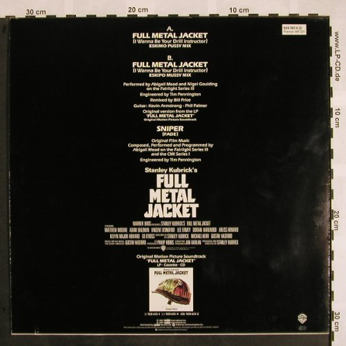 Full Metal Jacket: Full Metal Jacket*2+1, WB(920 787-0), D, 1987 - 12inch - X920 - 3,00 Euro
