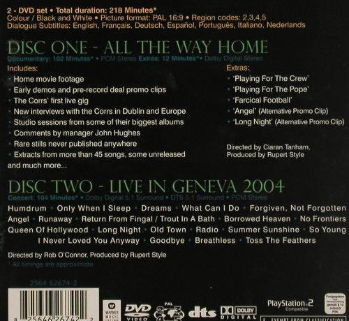 Corrs: All The Way Home, WB(), D, 05 - 2DVD-V - 20130 - 10,00 Euro