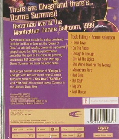 Summer,Donna: Live at Manhattan,1999, FS-New, ILC(DVD2436), , 04 - DVD-V - 20082 - 5,00 Euro