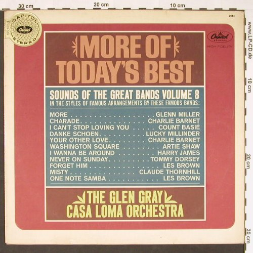 Casa Loma Orchestra / Glen Gray: More Of Today's Best, Anpressung, Capitol(83 689), D,vg+/vg+, 1964 - LP - C9048 - 7,50 Euro