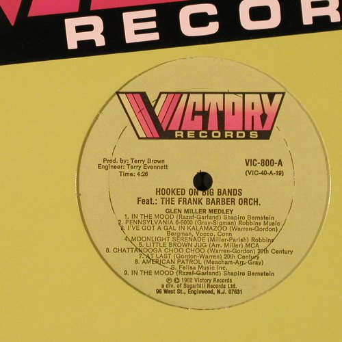 Barber Orch.,Frank: Hooked On Big Bands, FLC, Victory(VIC-800), US, 1982 - LP - E2912 - 5,00 Euro