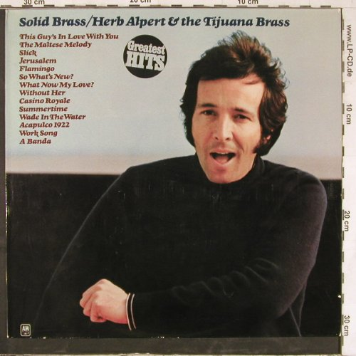 Alpert,Herb & Tijuana Brass: Solid Brass-Greatest Hits, AM(86 135 IT), D,  - LP - E4761 - 5,00 Euro