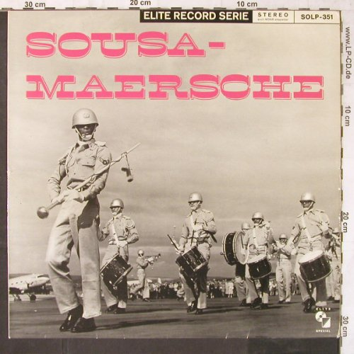 American Military Band: Sousa-Maersche,Cpt.Wayne Thompson, Elite(SOLP-351), D,  - LP - E6542 - 5,50 Euro