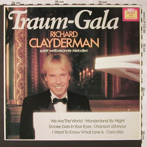 Clayderman,Richard: Traum-Gala, Teldec(6.26386 BU), D, 1986 - LP - E8005 - 4,00 Euro