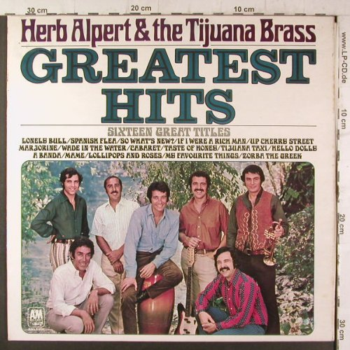 Alpert,Herb & Tijuana Brass: Greatest Hits, Foc, AM(AMLS 980), UK, 1970 - LP - F6682 - 6,00 Euro