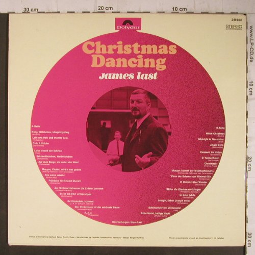 Last,James: Christmas Dancing, Ri, Polydor(249 088), D, 1966 - LP - F7813 - 3,00 Euro