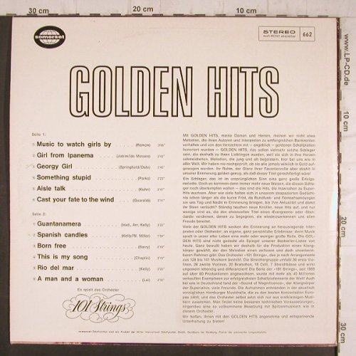 101 Strings: Golden Hits, Somerset(662), D,  - LP - F8365 - 4,00 Euro