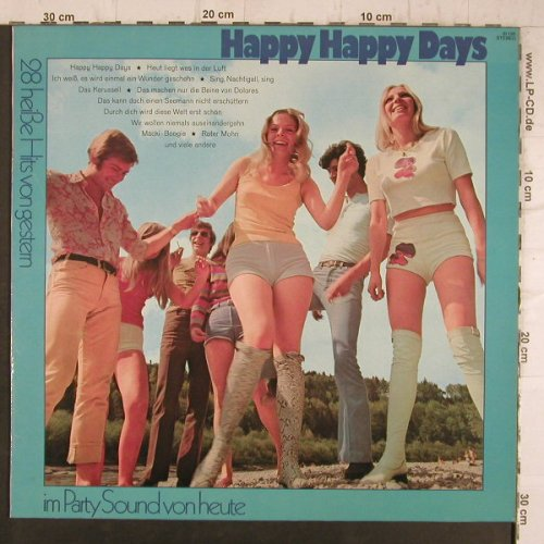 Klein,Ferdy/Jary,Michael  Chor&Orch: Happy Happy Days, 28 heiße Hits, Ariola, Club Sonderaufl.(61 135), D,  - LP - F8419 - 5,00 Euro