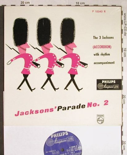 3.Jacksons: Parade No.2 (Accordion), Philips(P 10040 R), NL,  - 10inch - H126 - 5,00 Euro