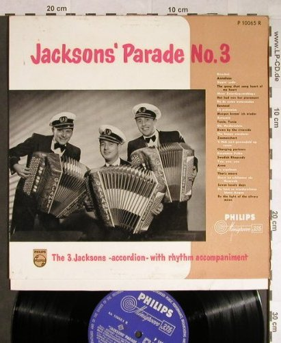 3.Jacksons: Parade No.3,Accordion with rhythm.., Philips(P 10065 R), NL,  - 10inch - H127 - 5,00 Euro