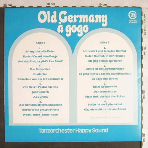 Tanzorchester Happy Sound: Old Germany a' gogo, Perl Serie(PSLP 235), D, 1972 - LP - H1470 - 5,00 Euro