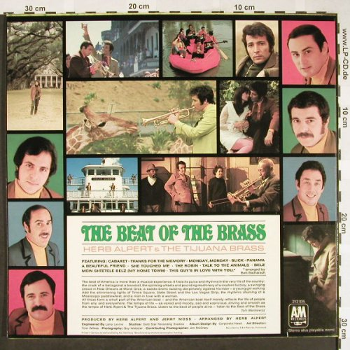 Alpert,Herb & Tijuana Brass: The Beat Of The Brass, AM(212 035), D, 1968 - LP - H1899 - 5,00 Euro