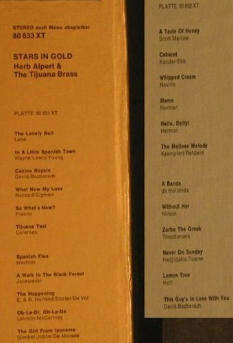 Alpert,Herb & Tijuana Brass: Stars In Gold, Box + Poster/Bookl., AM(80 833 XT), D,  - 2LP - H3188 - 7,50 Euro