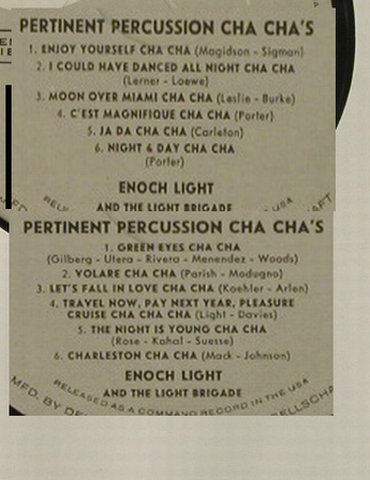 Light,Enoch  and the Light Brigade: Permanent Percuss. Cha Cha's,vg+/--, Command,MusterStol(298 016), D,NoCover,  - LP - H5235 - 5,00 Euro
