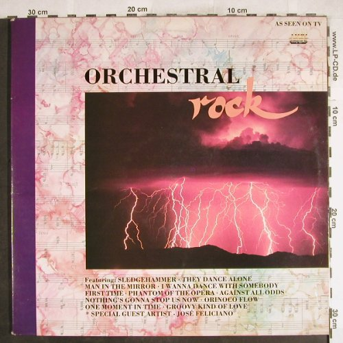 Vienna Symphony Orchestra: Orchestral Rock, Foc, Dino(DINTV3), UK, 1989 - 2LP - H7360 - 6,00 Euro