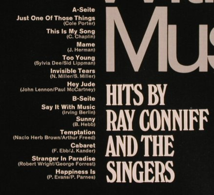Conniff,Ray & the Singers: Say It With Music, CBS/Discoton(S 92 278), D,  - LP - H8048 - 6,00 Euro
