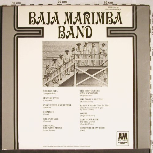Baja Marimba Band: Same, Club-Sonderauflage, AM(78 551), D, 1967 - LP - H8050 - 5,50 Euro