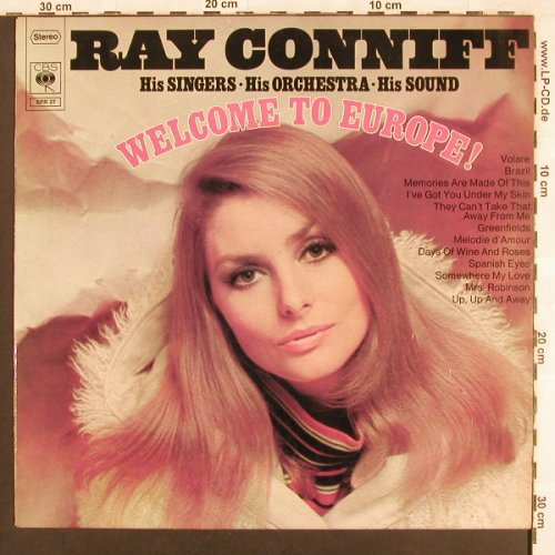 Conniff,Ray: Welcome To Europe, CBS(SPR 27), D, 1968 - LP - X26 - 5,50 Euro