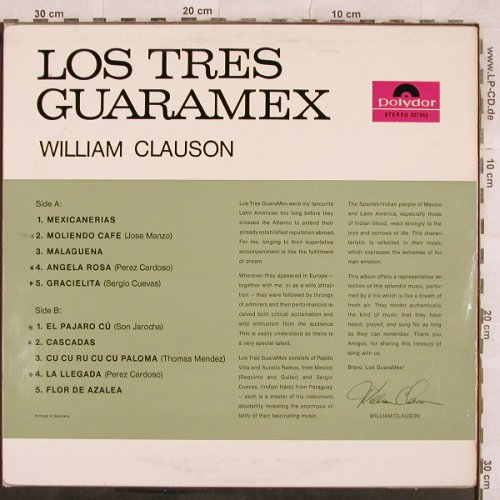 Clauson,William: Los Tres Guaramex, m-/vg+, woc, Polydor(237 652), D, 1963 - LP - X286 - 5,00 Euro