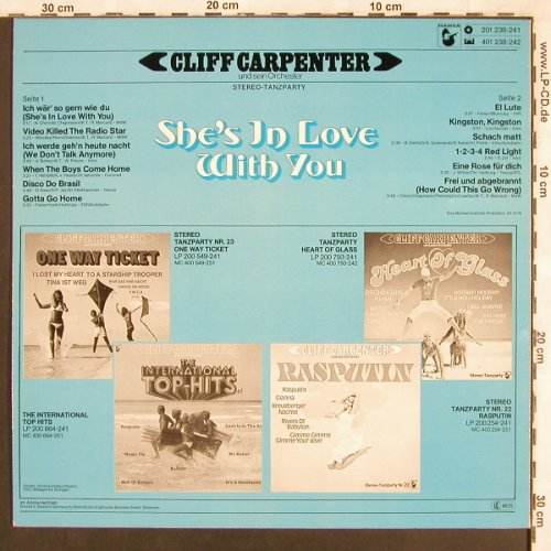 Carpenter,Cliff und s. Orch.: She's in Love with you, Hansa(201 238-241), D, 1979 - LP - X3566 - 5,00 Euro
