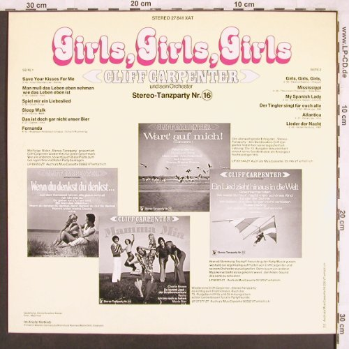 Carpenter,Cliff und s. Orch.: Girls,Girls,Girls, Hansa(27 841 XAT), D, 1976 - LP - X3568 - 5,00 Euro