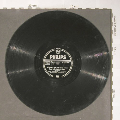 Armstrong,Louis u.s.All-Stars: When the red,red,robin' comes.., Philips(B 21 878), D,VG+, 1956 - 25cm - N232 - 5,00 Euro