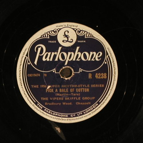 Vipers Skiffle Group: Pick a Bale of Cotton, Parlophone(R 4238), UK,vg+, 1957 - 25cm - N239 - 5,00 Euro