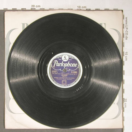 Hermann,Woody  and his Orch.: Caldonia / Goosey Gander, Parlophone(R.2990), UK,VG+, 1946 - 25cm - N244 - 10,00 Euro