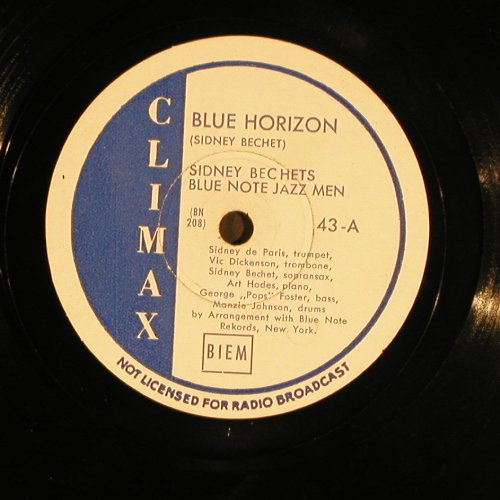Bechet,Sidney  Blue Note Jazz Men: Blue Horizon / Muskrat Ramble, Climax(43), ,  - 25cm - N283 - 10,00 Euro