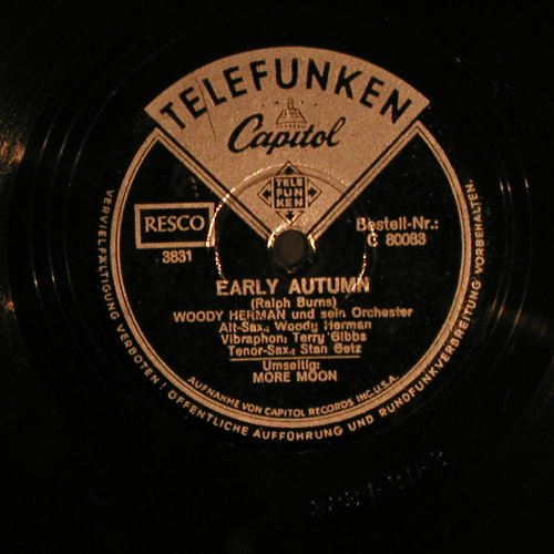 Hermann,Woody  and his Orch.: More Moon / Early Autumn, Telefunken(C 80083), D,  - 25cm - N395 - 7,50 Euro